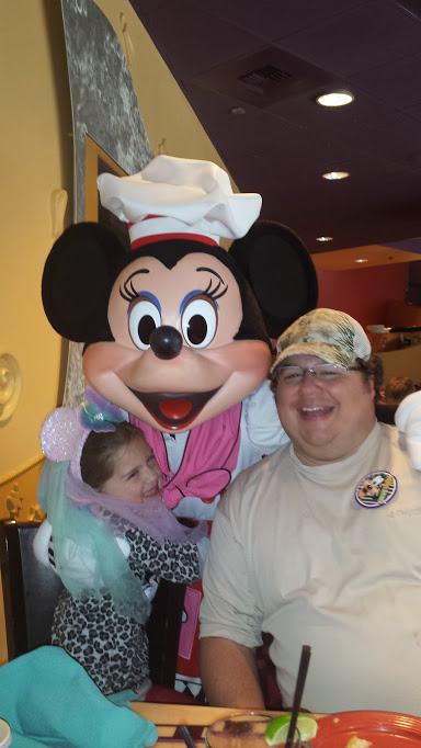 Minnie and dad
