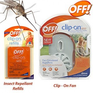 OFF! Clip-On Fan Mosquito Repellent and Refills
