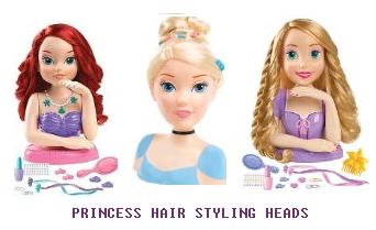 PRINCESS HAIR STYLING HEADS