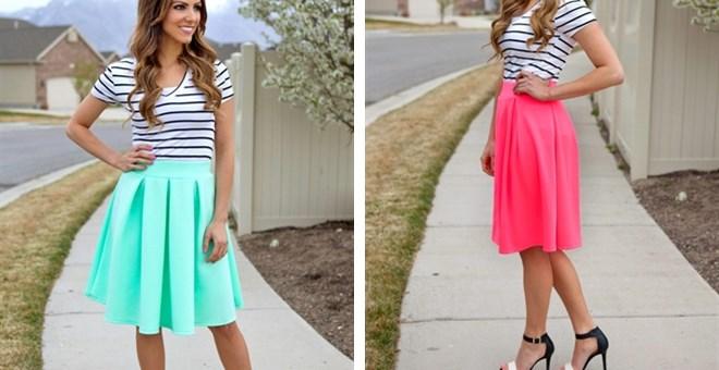 Spring A-Line Skirt