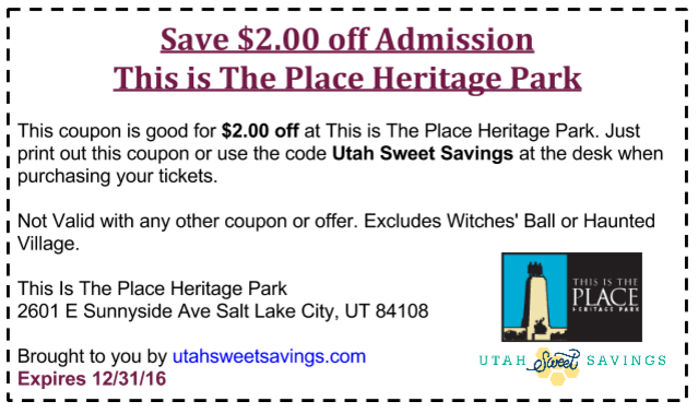 This is the Place Coupon