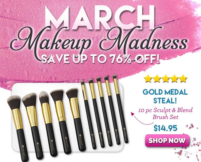 bh cosmetics march makeup madness brush & sculpt set