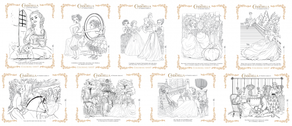 Cinderella 9 Free Coloring Pages