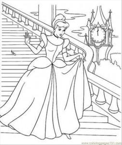 cinderella coloring page 2