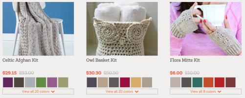 crocheting kits