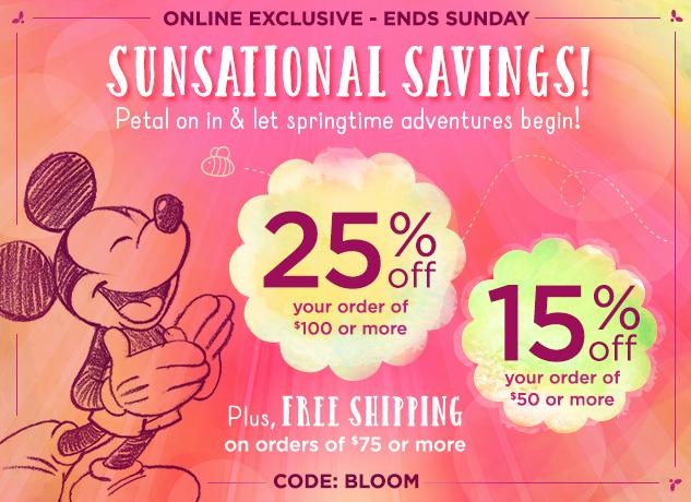 disney bloom code sunsational savings