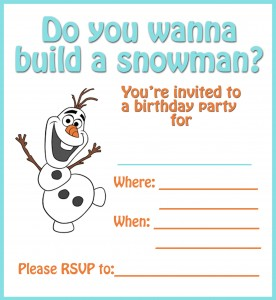 Build an Olaf the Snowman Birthday Party Plus FREE Printable Invite