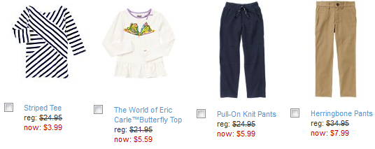 gymboree 3.99 and up sale