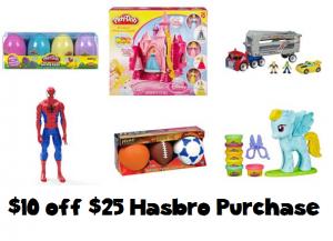kohls $10 off $25 hasbro purchase