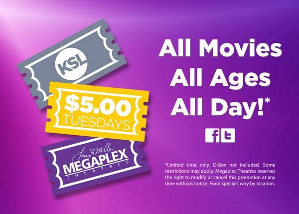 megaplex $5 Movies