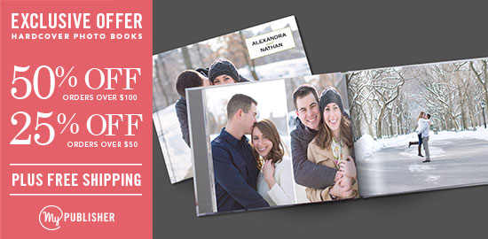 mypublisher photo book offer free shipping