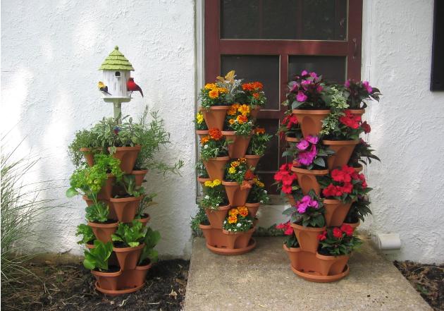 three tier flower herb garden