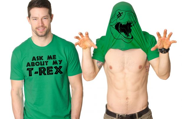 Ask Me About My Trex Flipup Shirt