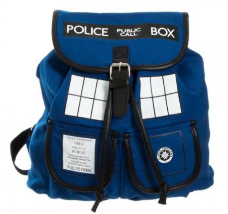 Doctor Who Dr. Blue Tardis Knapsack Backback