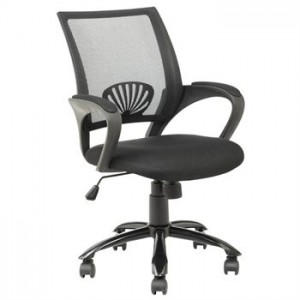 Ergonomic Mesh Midback Office Chair Metal Base