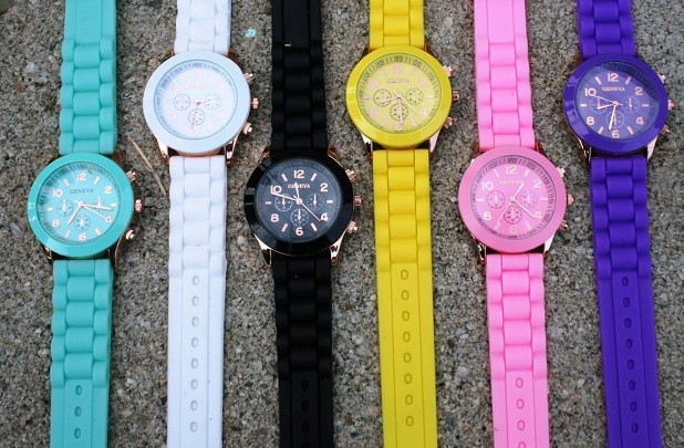 Geneva Jelly Band Watches – 9 Colors