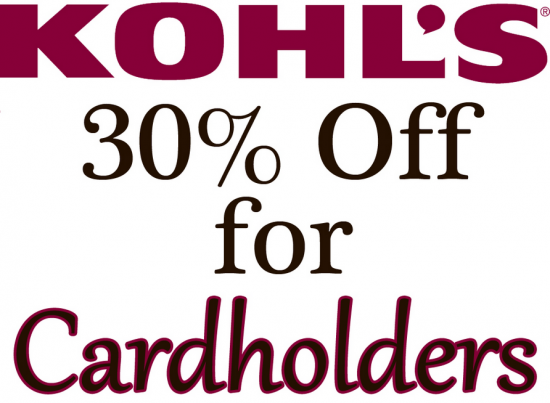 Kohls 30 coupon code november