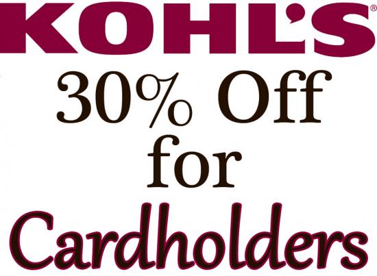 Kohls 30 cardholders