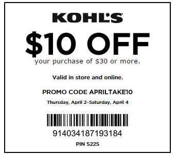 Kohls coupon codes free shipping