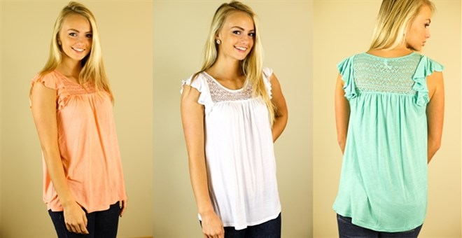 Lace Flutter Tee