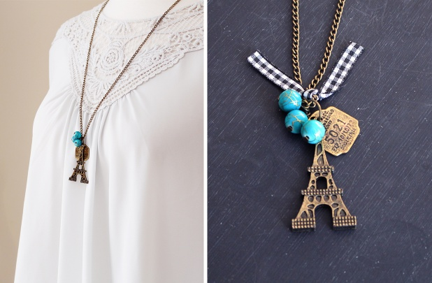 Le eiffel tower pendant necklace for 424 utah sweet savings le eiffel tower pendant necklace aloadofball Image collections