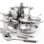 Macy's Tools of the Trade Stainless Steel 12 Piece Cookware Set