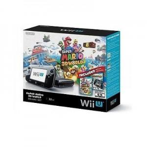 Nintendo Wii U Deluxe Set Super Mario 3D World and Nintendo Land Bundle - Black