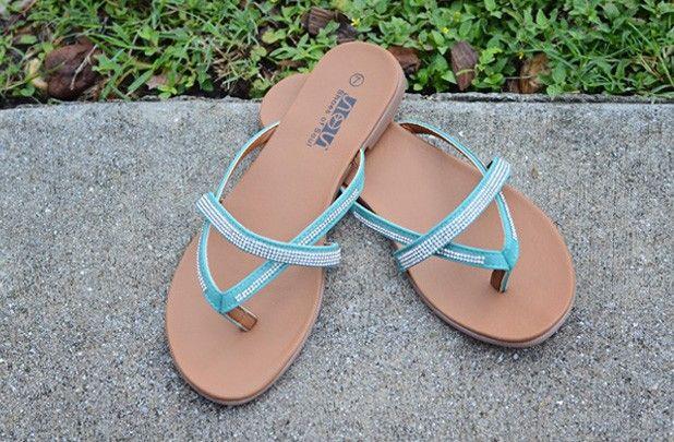 Women's Shimmer Flip Flops - 3 Colors
