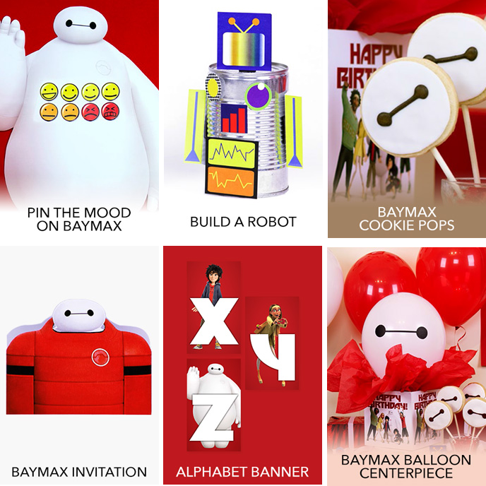 FREE Big Hero 6 Coloring Pages & Activities! Plus FREE Computer Games, Printable Birthday ...