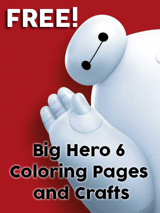 FREE Big Hero 6 Coloring Pages Activities Plus Computer Games Printable Birthday Invites Crafts