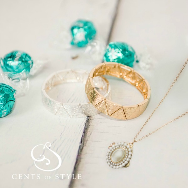 cents of style bracelet and necklace combo