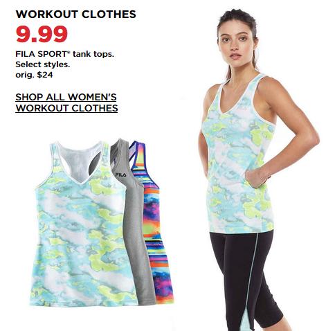 fila workout apparel