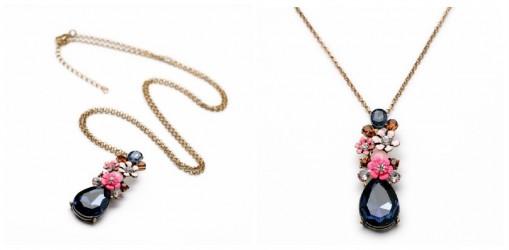 flower gem necklace