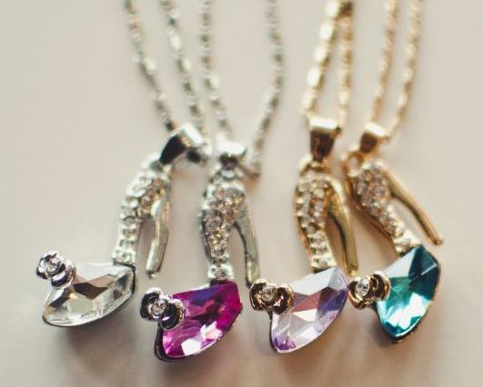 Glass slipper necklace 899 reg 1499 utah sweet savings glass slipper necklace aloadofball Choice Image