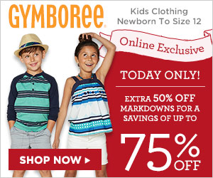 gymboree today only 75 off