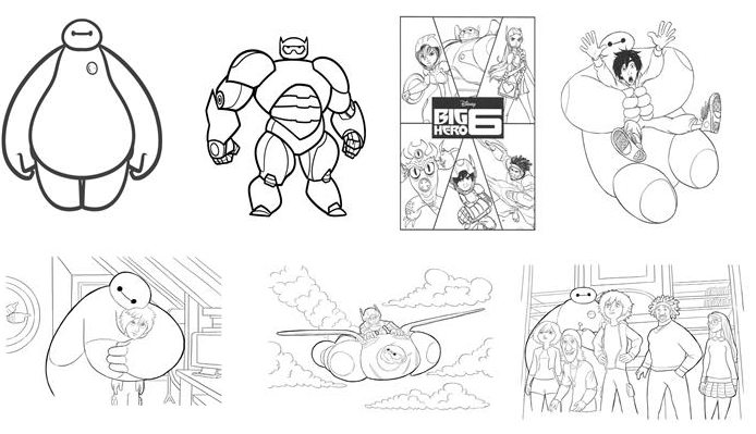 kids n fun 35 big hero 6 coloring pages
