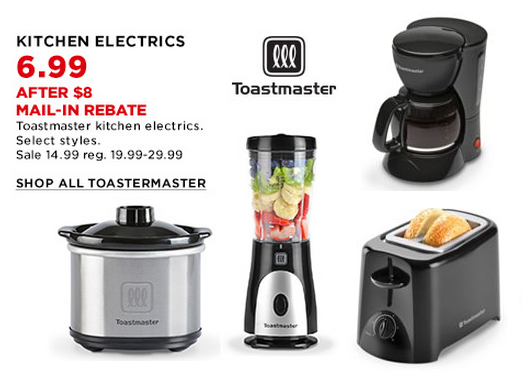 HOT* Kohl's Small Appliances As Low As $5.59 After Rebate & Kohl's ...