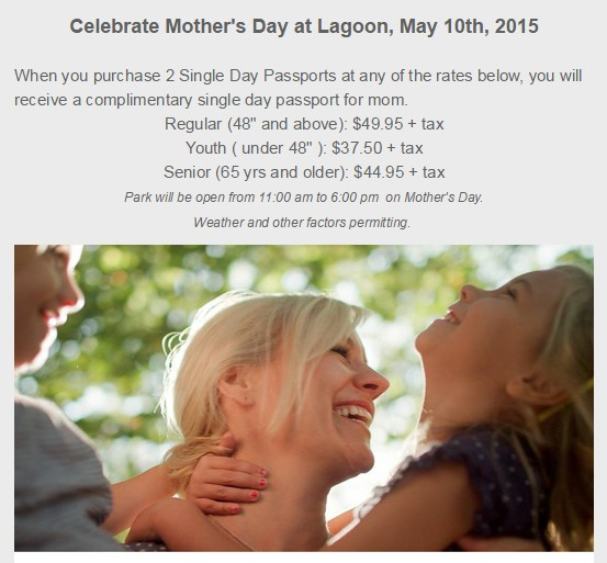 mothers day at lagoon