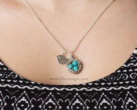 nes egg pendant necklace