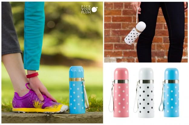 polka dot water bottles