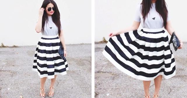 strip twril skirt