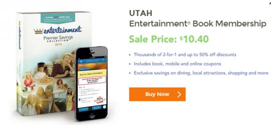 utah entertainment book sale