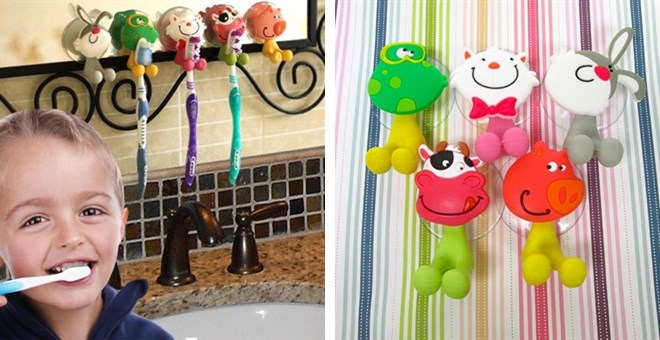 Adorable Kids' Animal Toothbrush Holders