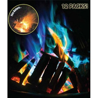 Amazing Color Changing Fire Packets 12 Pack