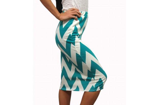 Chevron Pencil Skirts