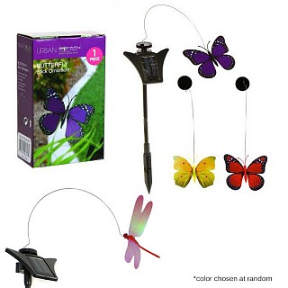 Solar Powered Flying Butterfly and Dragonfly