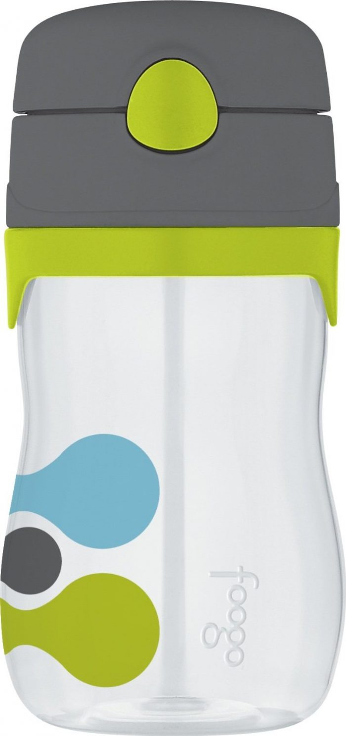 Thermos FOOGO Phases Straw Bottle, Tripoli Design, 11 Ounce