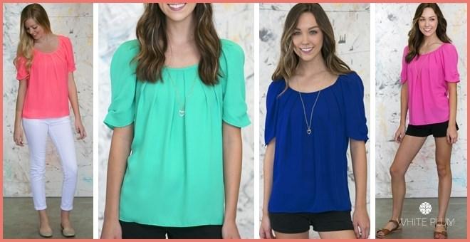 ashleigh pleated blouse