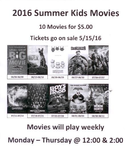 10 summer matinees for 5 at walker cinemas capitol 2