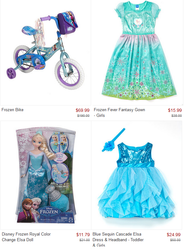 Disney Frozen Collection Sale! Bikes, Nightgowns & Apparel, Toys ...